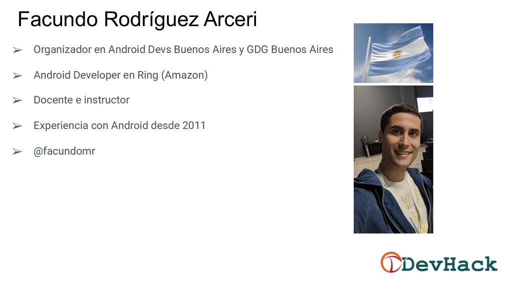 Facundo Rodríguez Arceri ➢ Organizador en Andro...