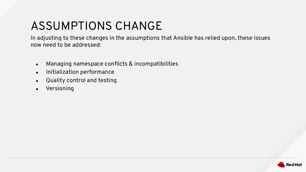 ● Managing namespace conflicts & incompatibiliti...
