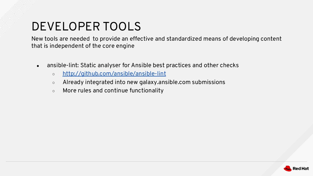 ● ansible-lint: Static analyser for Ansible bes...