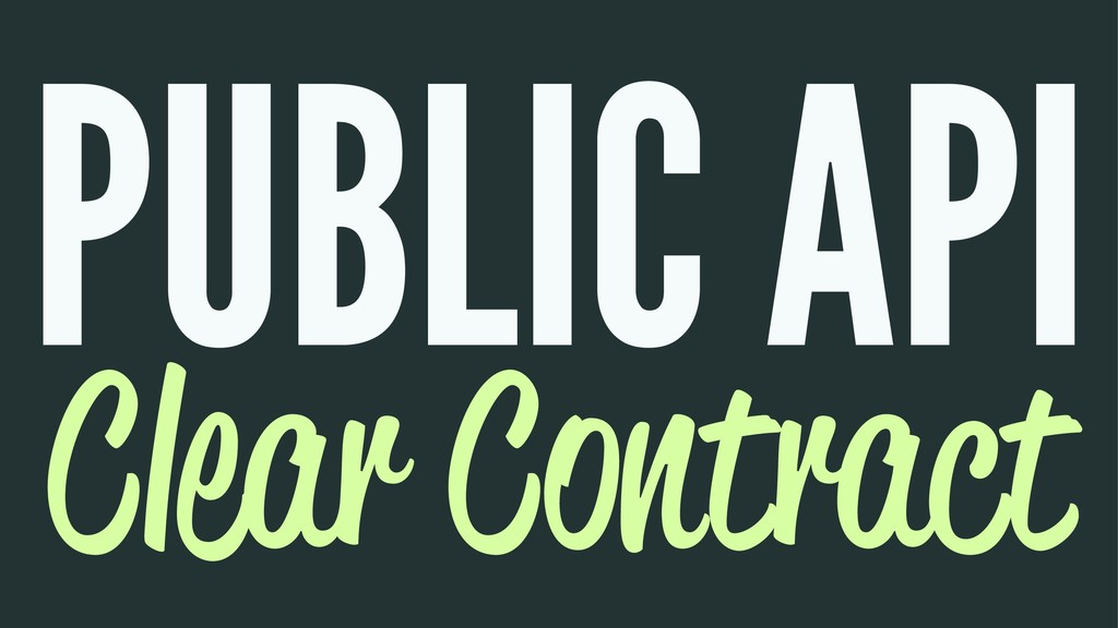 PUBLIC API Clear Contract