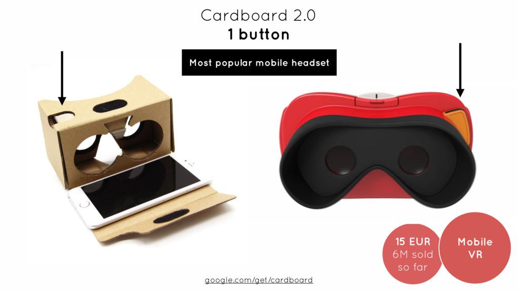 15 EUR 6M sold so far Cardboard 2.0 1 button...