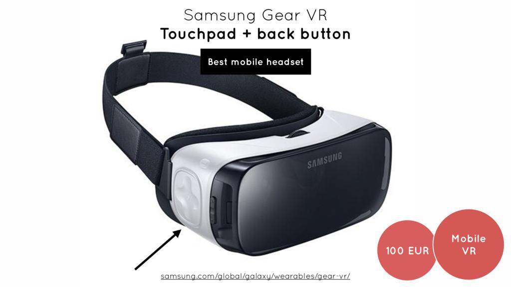 Samsung Gear VR Touchpad + back button samsung...
