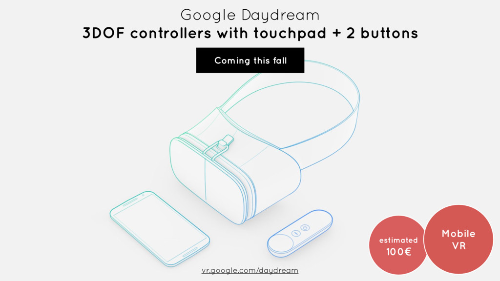 Google Daydream 3DOF controllers with touchpad...