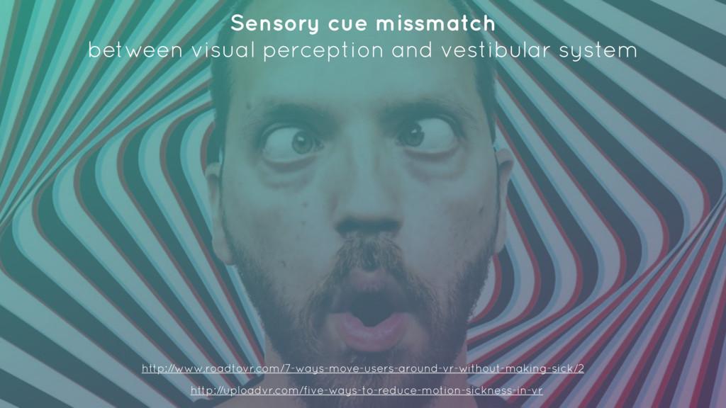 Sensory cue missmatch between visual perceptio...