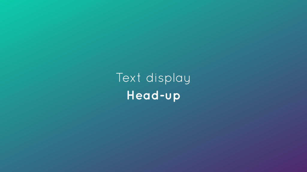 Text display Head-up