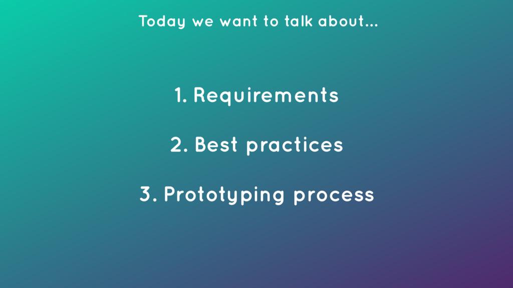 1. Requirements 2. Best practices 3. Prototyp...