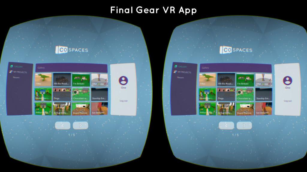 Final Gear VR App