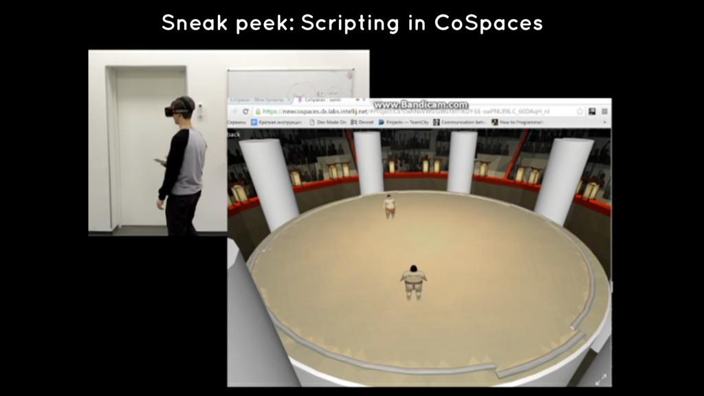 Sneak peek: Scripting in CoSpaces