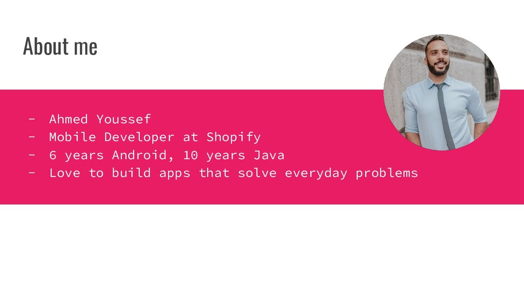 About me - Ahmed Youssef - Mobile Developer at ...