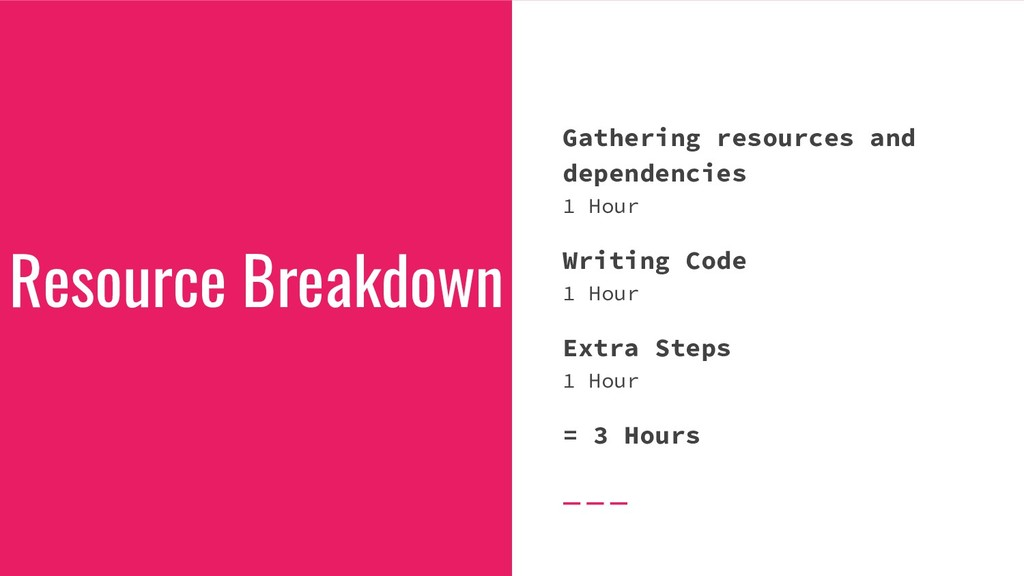Gathering resources and dependencies 1 Hour Wri...