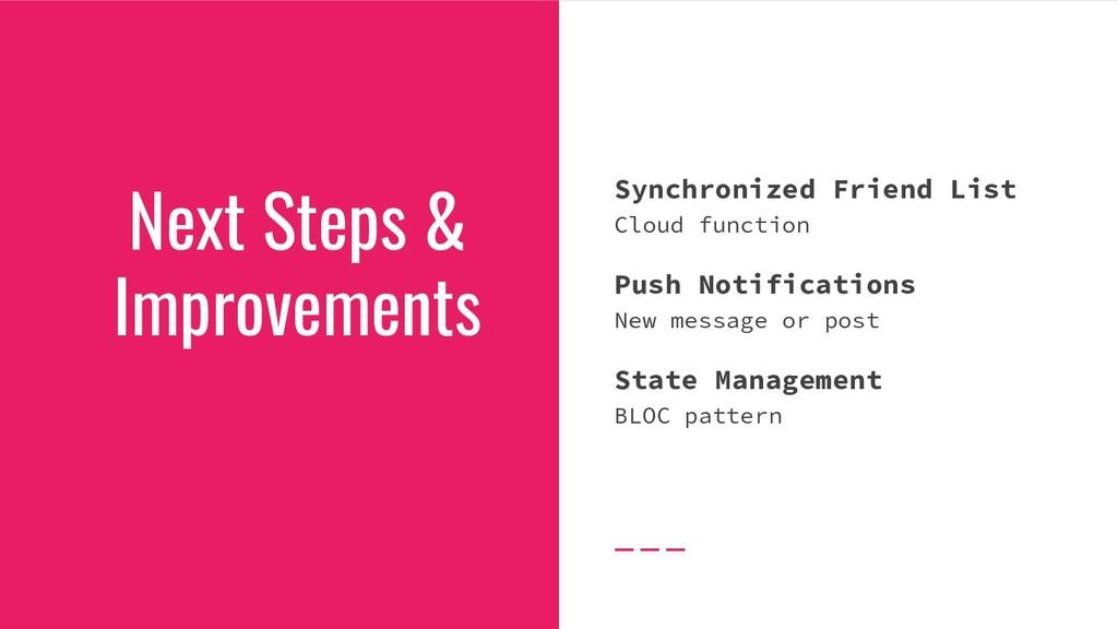 Synchronized Friend List Cloud function Push No...