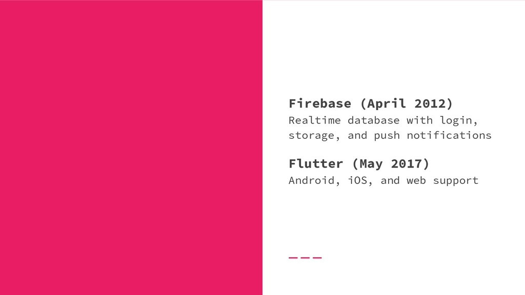 Firebase (April 2012) Realtime database with lo...