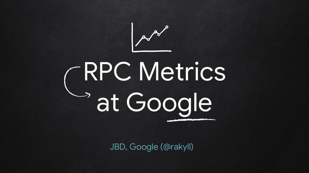 RPC Metrics at Google JBD, Google (@rakyll)