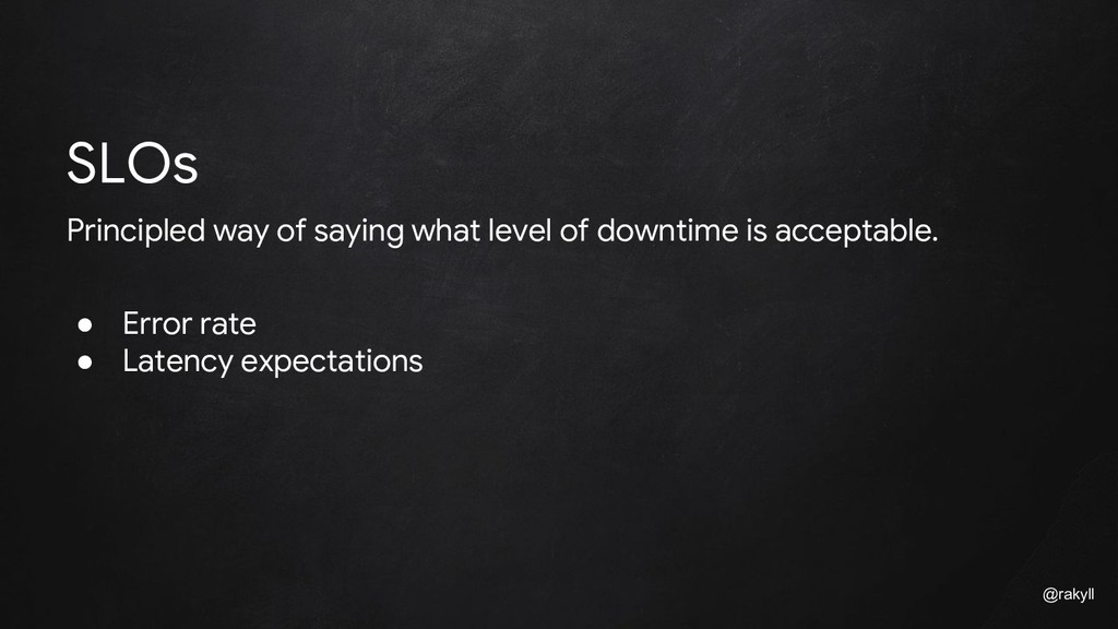 @rakyll Principled way of saying what level of ...