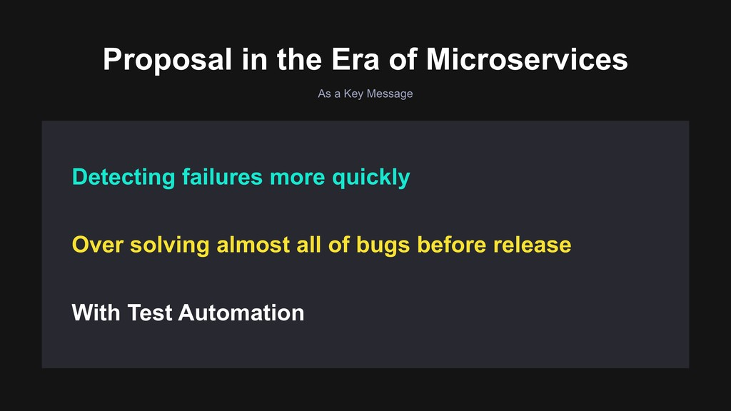 As a Key Message Proposal in the Era of Microse...