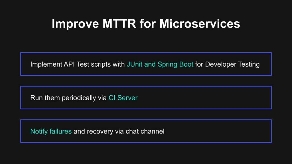 Improve MTTR for Microservices Implement API Te...