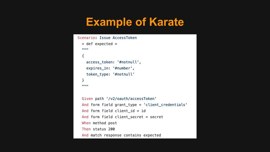 Example of Karate