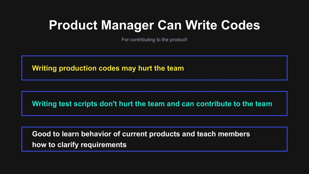Product Manager Can Write Codes For contributin...