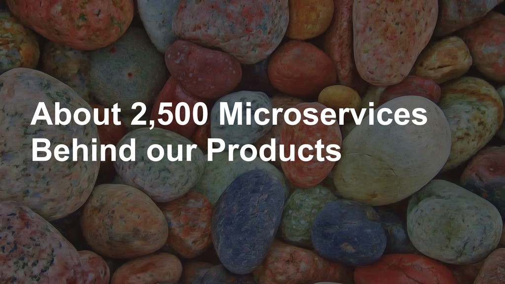 About 2,500 Microservices Behind our Products