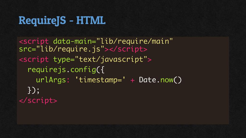 RequireJS - HTML