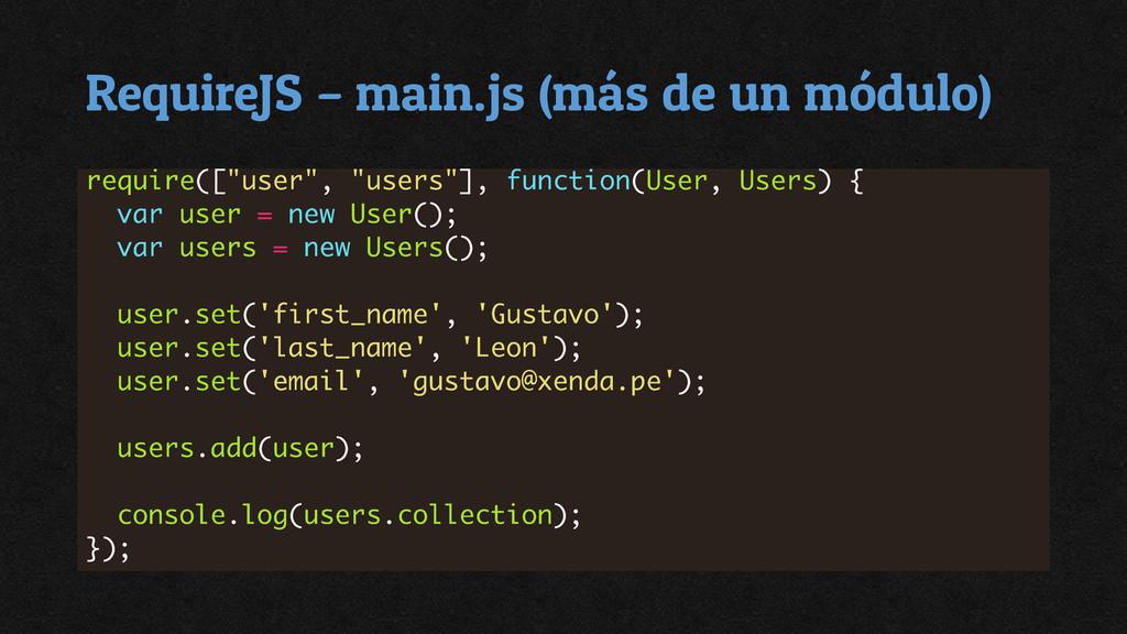 RequireJS – main.js (más de un módulo)