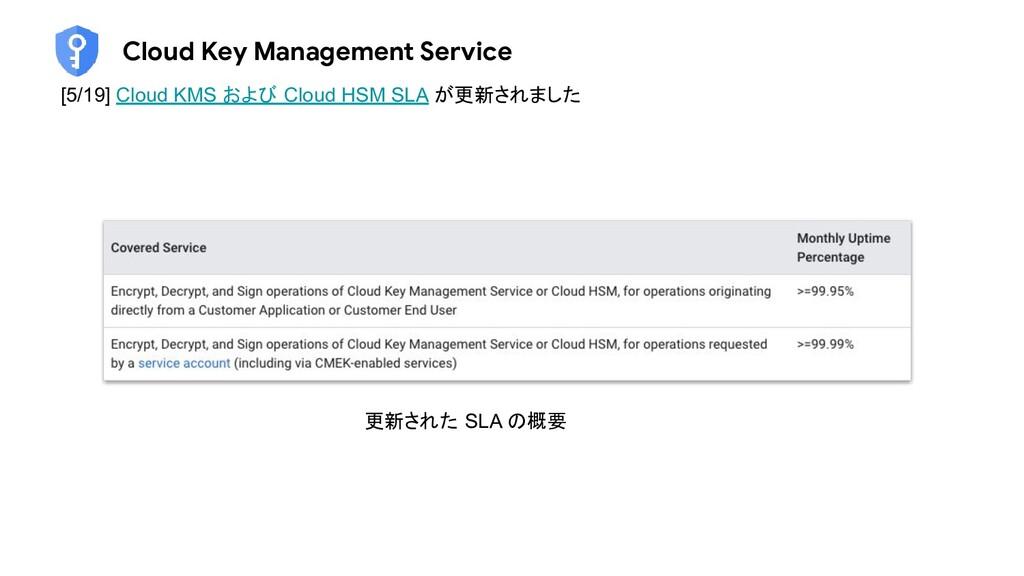 Cloud Key Management Service [5/19] Cloud KMS お...
