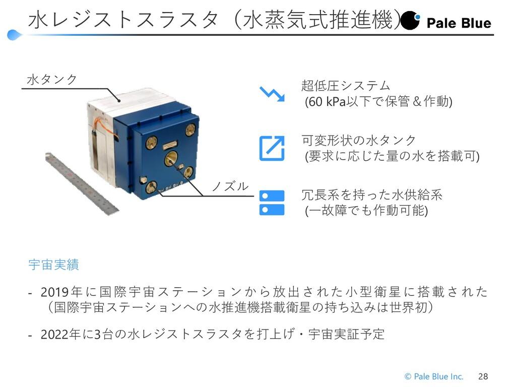 ‐ キセノンガスを推進剤として用いた小型イオンスラスタを 開発し、東京大学が開発した60 kg...