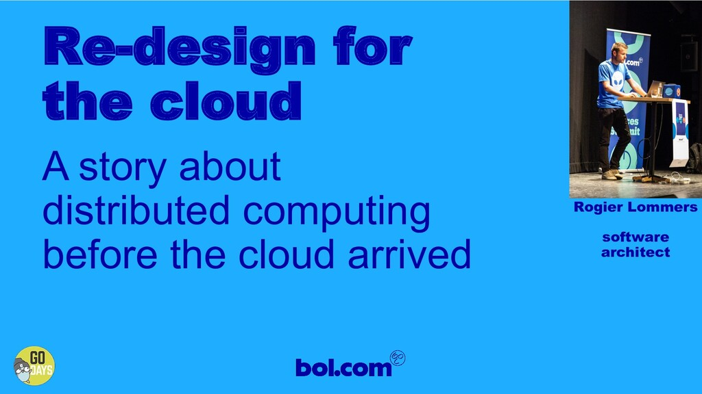 A story about distributed computing before the ...