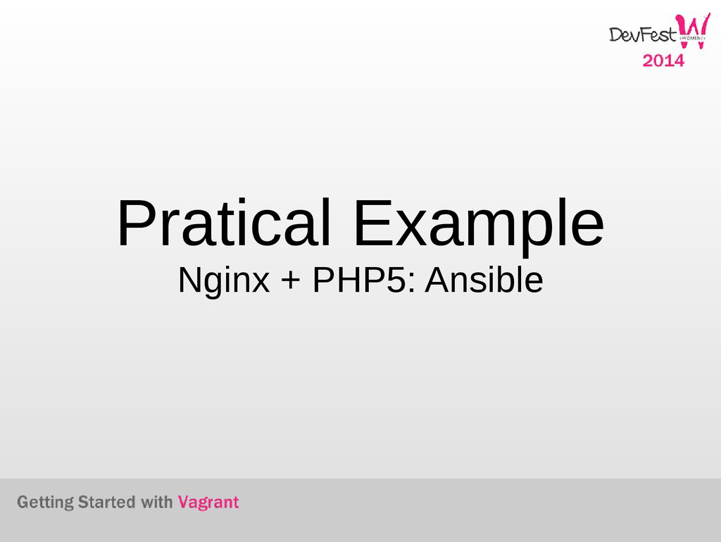 Pratical Example Nginx + PHP5: Ansible