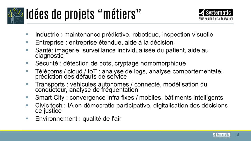 16 § Industrie : maintenance prédictive, ro...
