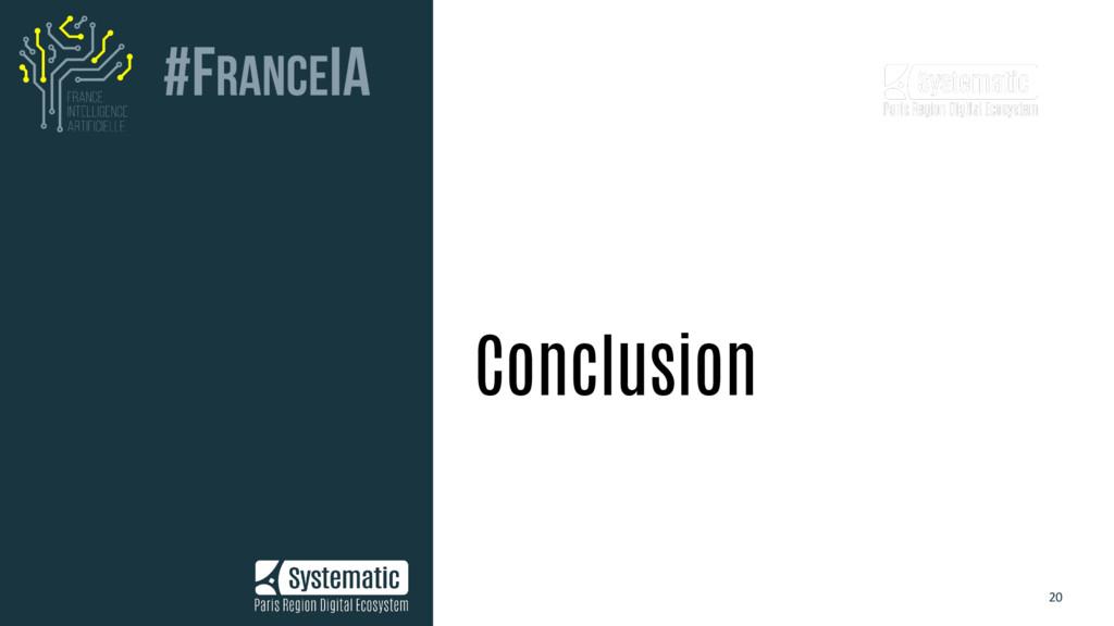20 Conclusion