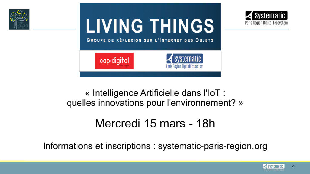 23 « Intelligence Artificielle dans l'IoT : ...