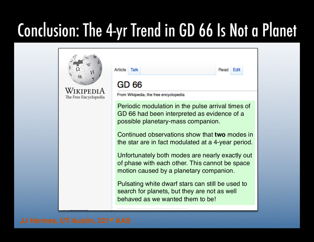 Conclusion: The 4-yr Trend in GD 66 Is Not a Pl...