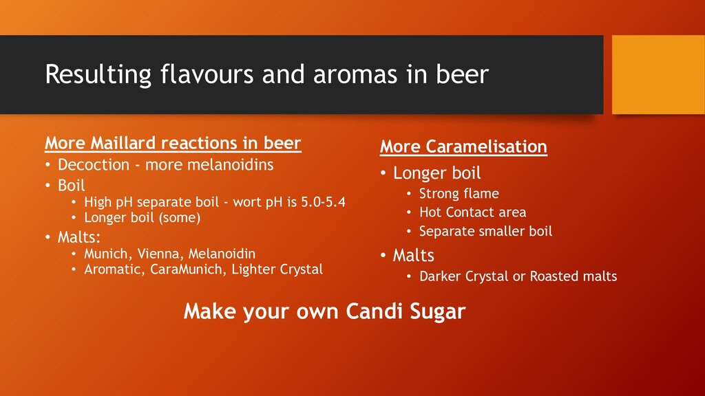 Resulting flavours and aromas in beer More Mail...