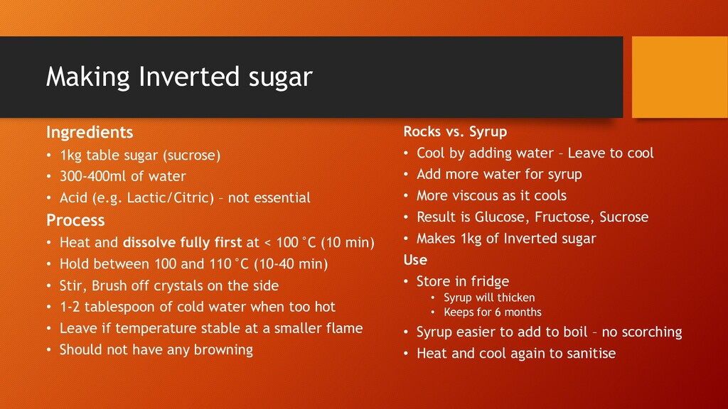 Making Inverted sugar Ingredients • 1kg table s...