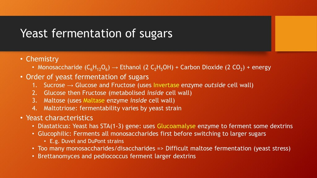 Yeast fermentation of sugars • Chemistry • Mono...