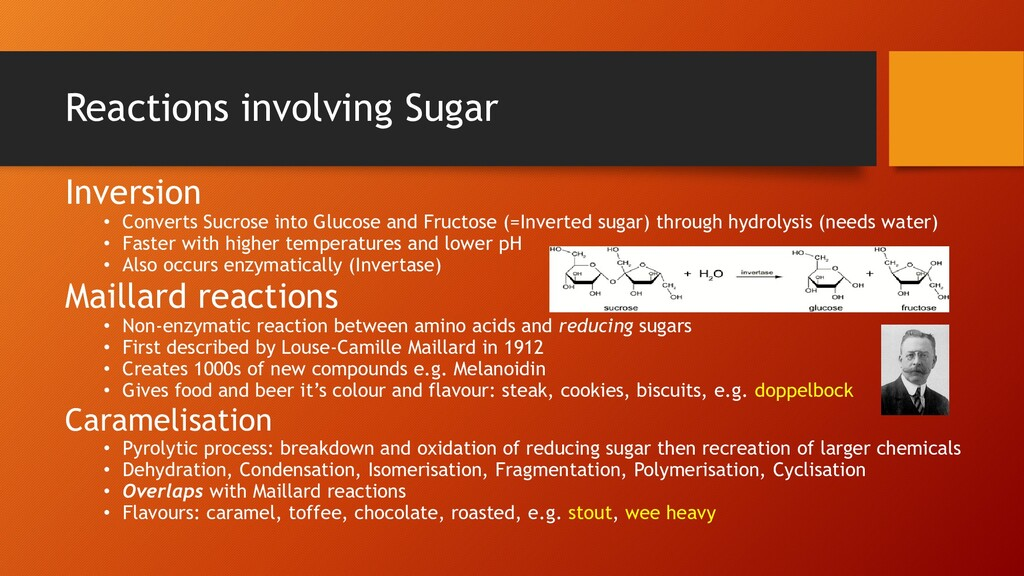Reactions involving Sugar Inversion • Converts ...