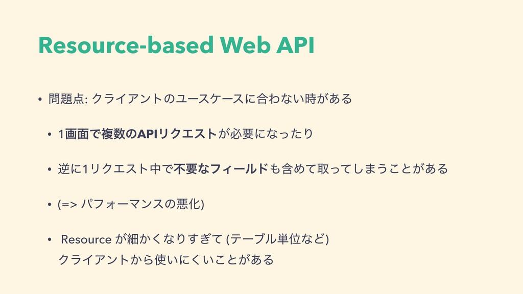 Resource-based Web API • : ΫϥΠΞϯτͷϢʔεέʔεʹ߹Θͳ...