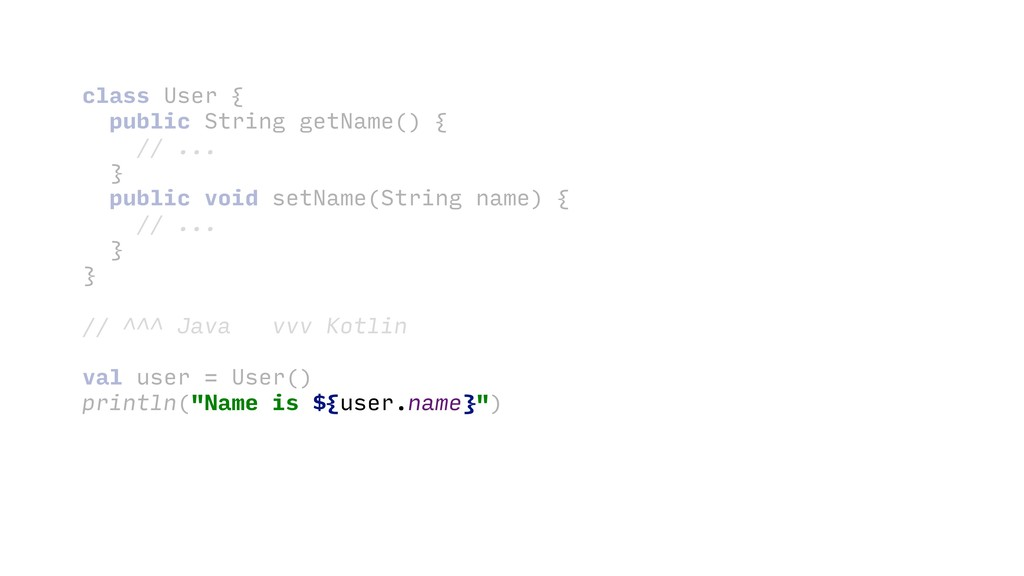 class User {