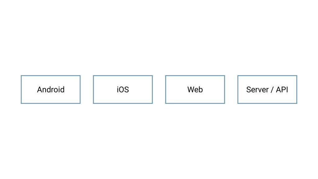 iOS Web Server / API Android