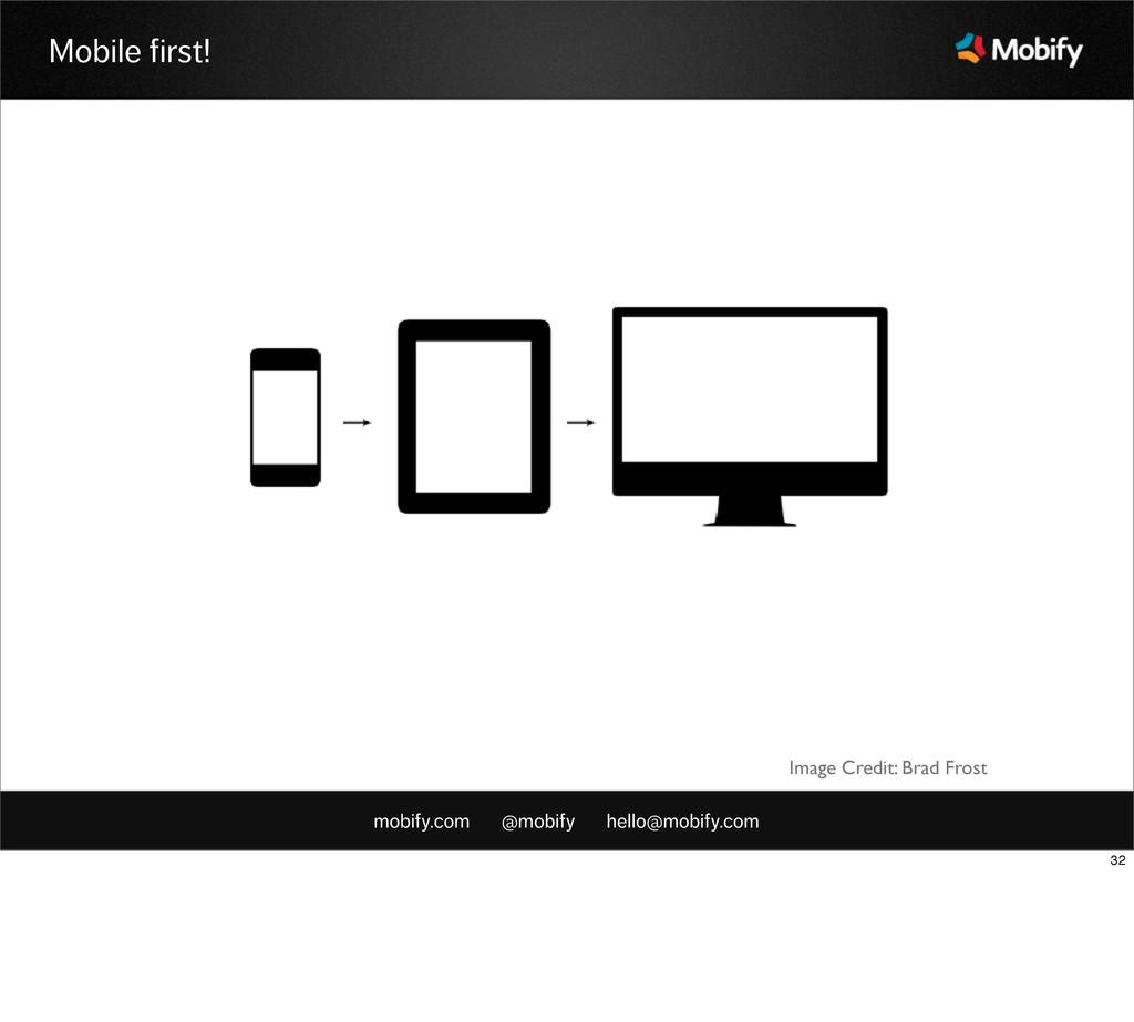 mobify.com @mobify hello@mobify.com Mobile firs...
