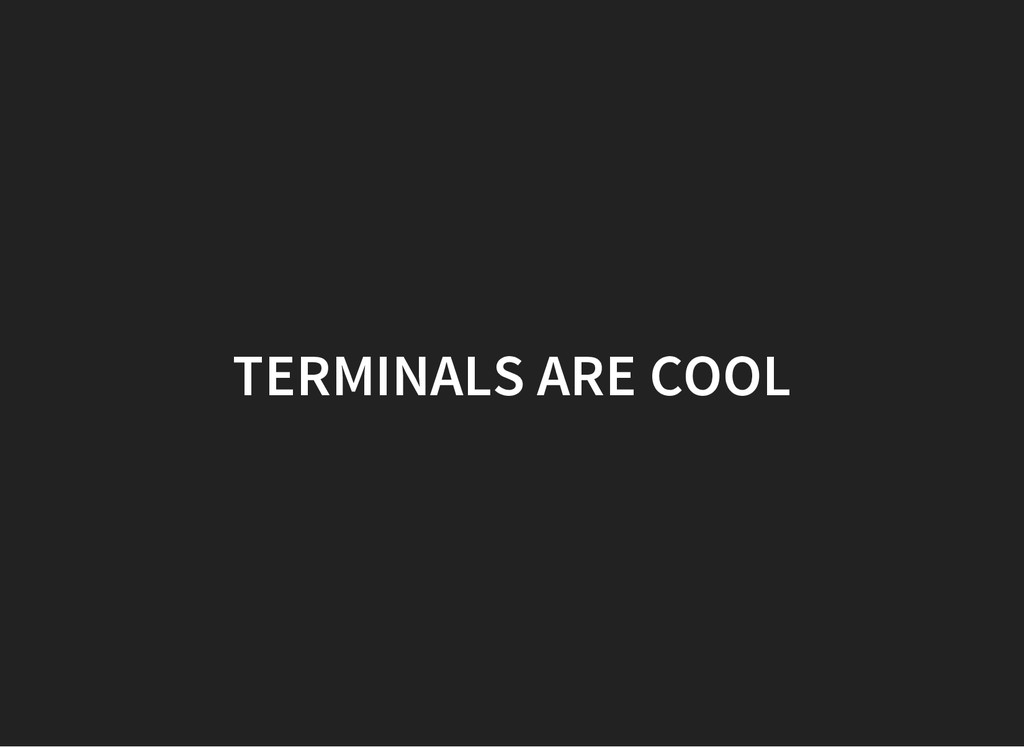 TERMINALS ARE COOL