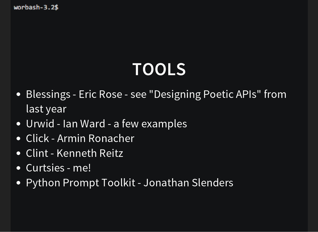 """TOOLS Blessings - Eric Rose - see """"Designing Po..."""
