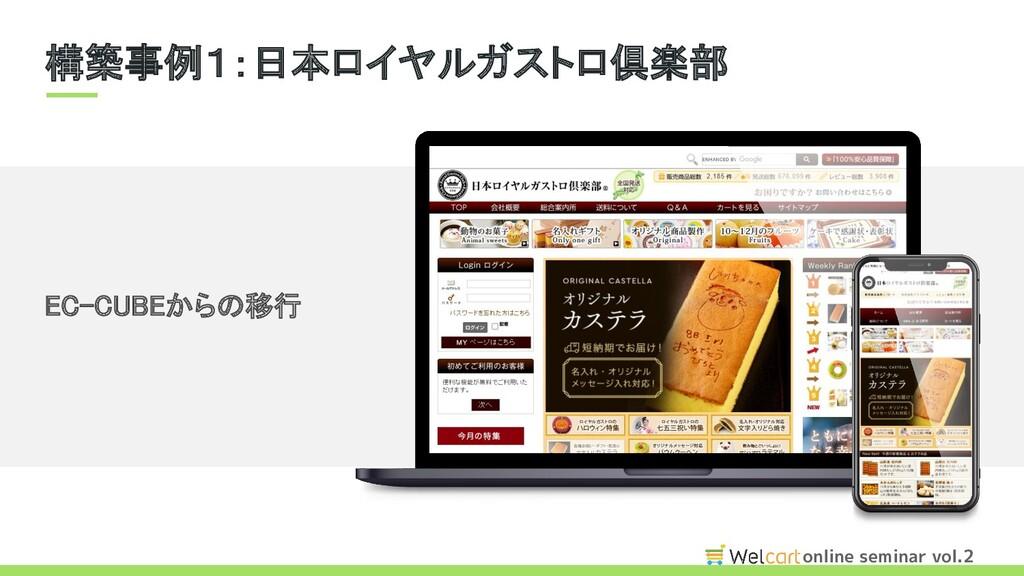 online seminar vol.2 EC-CUBEからの移行 構築事例1:日本ロイヤル...