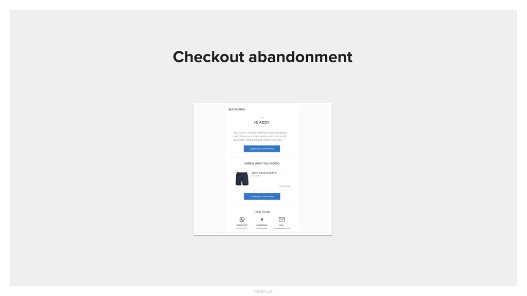 Checkout abandonment