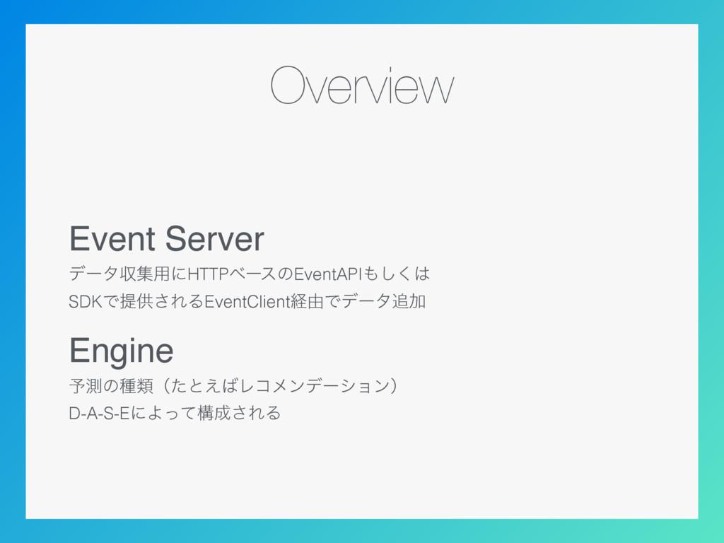 Overview Event Server σʔλऩू༻ʹHTTPϕʔεͷEventAPI͠...
