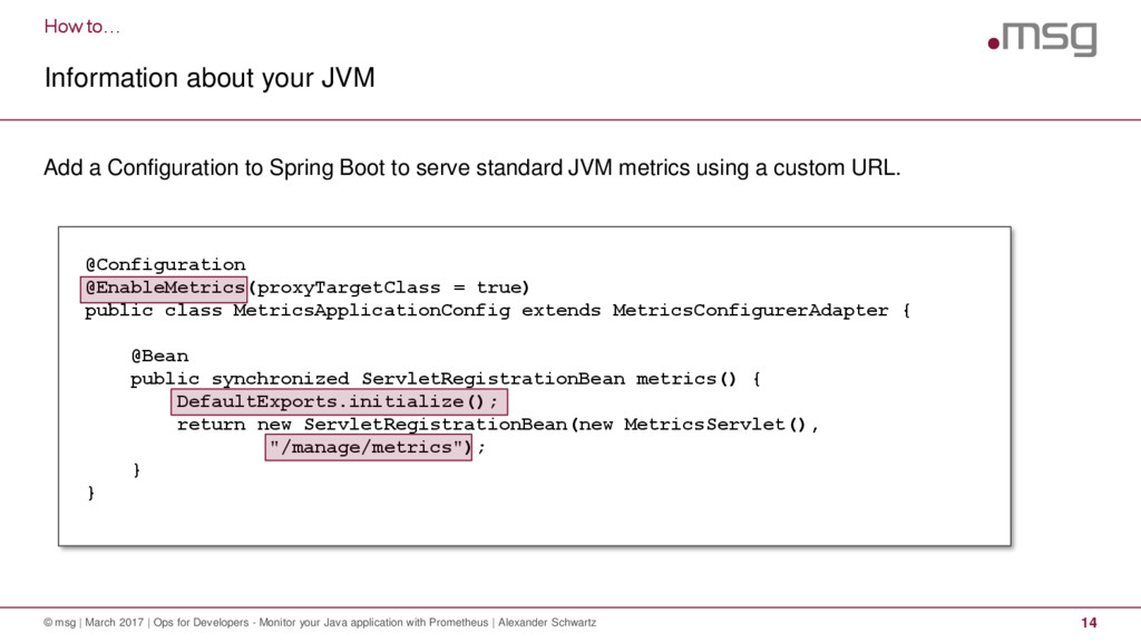 How to… Information about your JVM © msg | Marc...