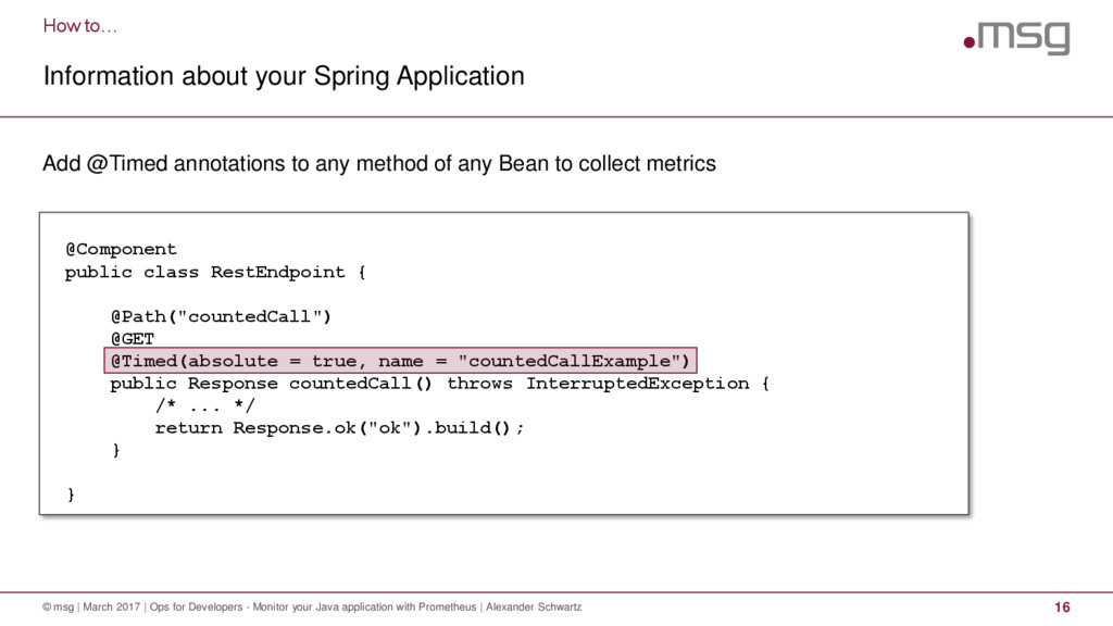 How to… Information about your Spring Applicati...