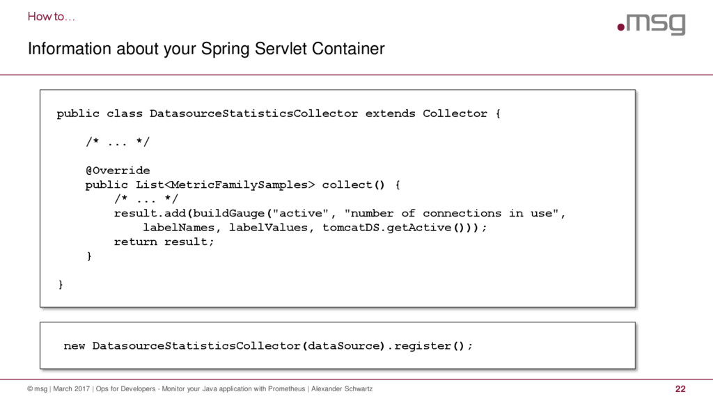 How to… Information about your Spring Servlet C...