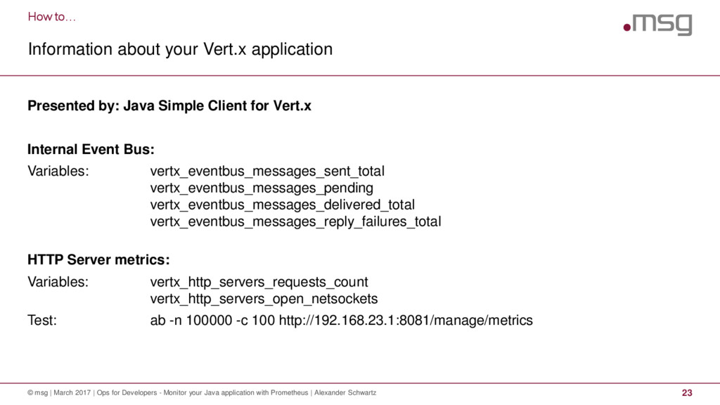 How to… Information about your Vert.x applicati...